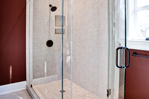 Framless shower doors make for a clean design element in your bathroom.